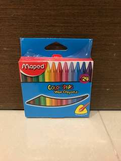 Free Postage-BN Maped Color'Peps Wax Crayons