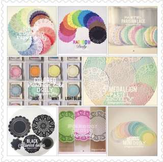 Assorted Doilies for sales