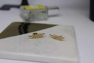 Golden Leaf Earring
