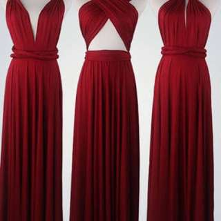 Multiway Burgundy Maxi Dress