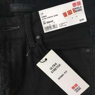Uniqlo women ultra stretch skinny jeans 長褲