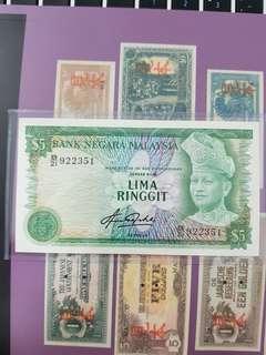 Malaysia 4th 5 ringgit unc