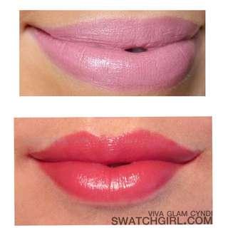 2 pcs Authentic MAC lipstick viva glam and angel