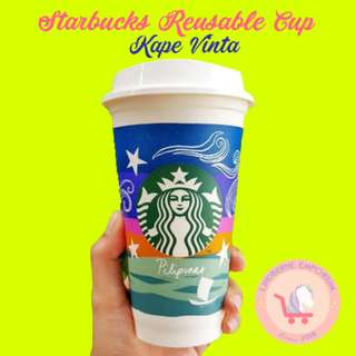 [BRAND NEW, LIMITED EDITION] 2018 Starbucks Reusable Cup Kape Vinta Edition