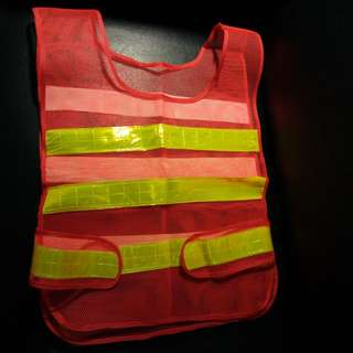 High visibility neon safety vest. Brand new, never used