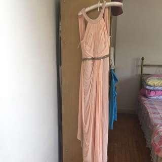 Peach Gown with Swarovski