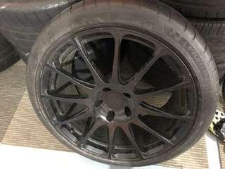 Spare rim w tyre 5 x 114.3