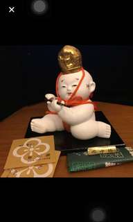 Imperial Palace Doll Whistling Ceramic from Japan