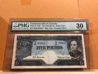 Australia 31 £5 1954 PMG 30