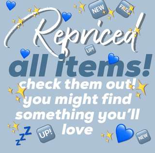 ✨💙REPRICED ALL ITEMS💙✨
