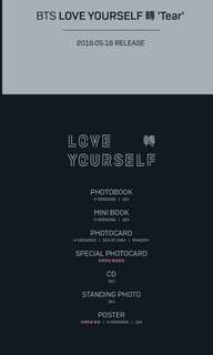 PREORDER BTS Love Yourself Tear