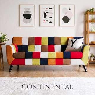 Continental Sofa (3 Seater) - (Fancy & Vitamin)