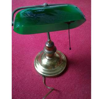 Vintage Brass Reading Lamp