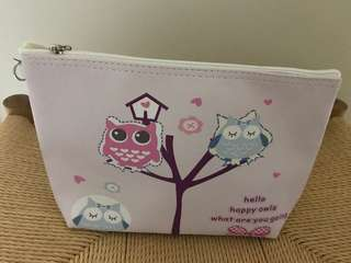 Sweet Lilac Owl Vanity Pouch
