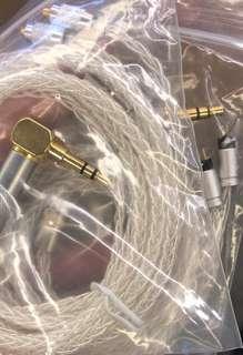 耳機線 8芯單晶銅鍍銀