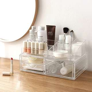ACRYLIC ORGANIZER D SERIES TOP A CLEAR
