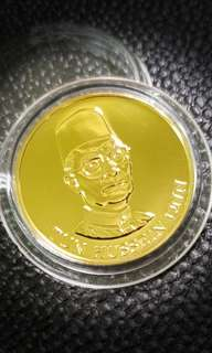 Malaysia Gold Coin M$500 of Tun Hussein Onn minted in Franklin Mint USA
