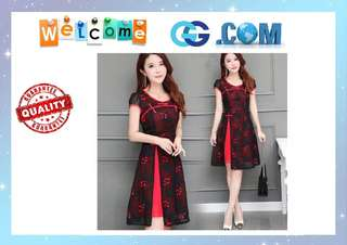 【Pre-Order】Women Clothing Cheongsam Prom Gown Dinner Party New Dresses Red Midi Dress