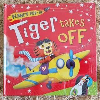 BEST SELLER Buku Anak Toddler Planet Pop Up Tiger Takes Off Pop Up Book