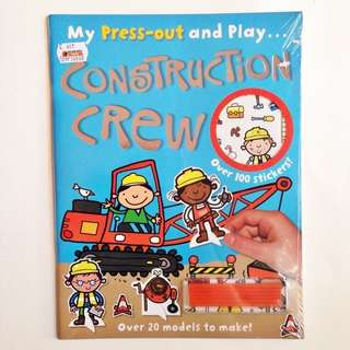 BEST SELLER Buku Anak Toddler Press Out and Play Construction Crew