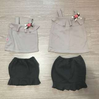 Baby girl 2 piece set with skirt