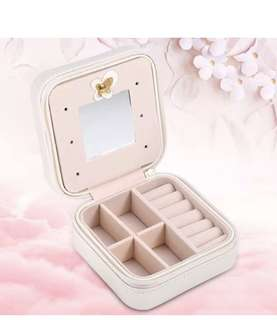 White Eiffel Tower travel mini Jewellery Box