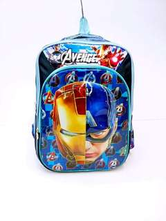 AVENGERS 5D BAGPACK 3 COMPARTMENT  HIGH QUALITY  SIZE 17 INCH