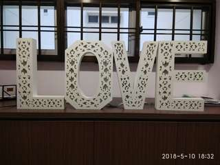 (Rent) LED multi coloured LOVE display for wedding 45cm