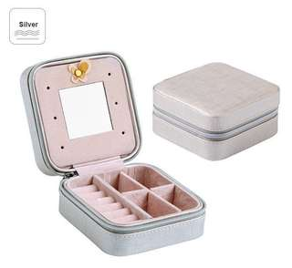 Sliver croc travel mini Jewellery Box