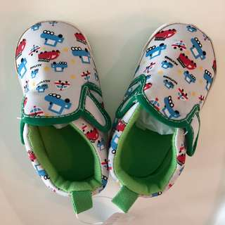 Green Car Baby Shoes