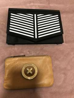 Mimco and Dissh purse and clutch