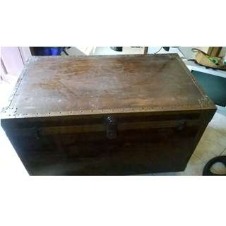 Big Antique Chest with Copper Sidings