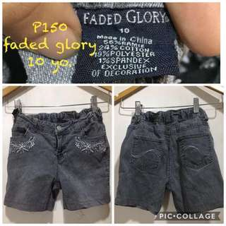 Shorts for girls Faded Glory