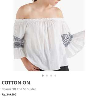 Cotton On off the shoulder