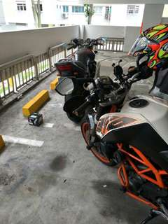 """Bike Been Rescue (Honda Cb400 Spec3)        Location: Jurong west st 91 (Carpark)           Time: 5.57pm (Afternoon)          Date: 10 May 18          Cause: Battery Dead (Replace New Battery)           """"Kureiji Response Team""""          Emergency Service"""