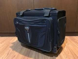 Original Hawk Black School Trolley Bag w/ Rain Jacket