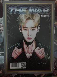 EXO CHEN THE WAR VERSION A OFFICIAL PHOTOCARD
