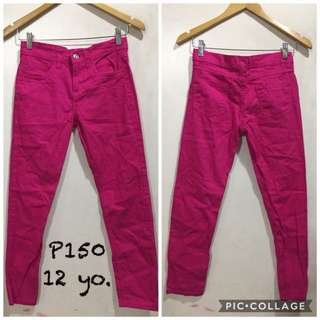 Pink pants for kids
