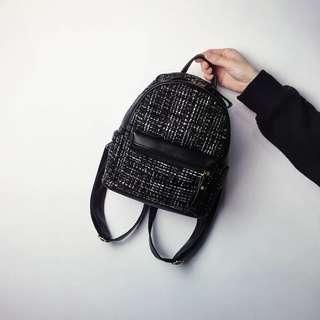 BNIP Mini Tweed Backpack (FREE NORMAL MAIL)