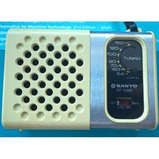 Vintage Sanyo RP 1250 AM Transistor Radio