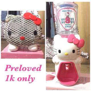 Hello Kitty Dispenser and Electric fan