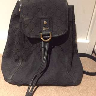 Gucci Abbey monogram canvas backpack