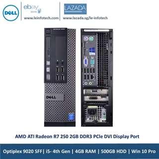 🚚 Dell Optiplex 9020 SFF Business PC  Quad Core i5-4570#3.2GHz 4GB DDR3 500GB HDD Win 10 Pro AMD ATI Radeon R7 250 2GB DDR3 PCle DVI Display Port