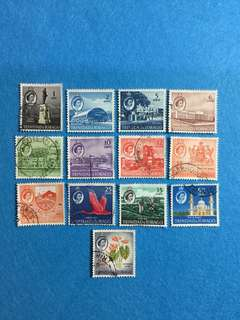 1960 Trinidad & Tobago QE2 Definitive Series 13 Values Used Short Set