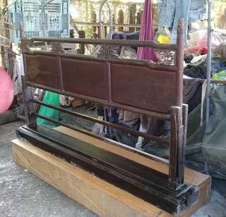 早期紅眠床改做圍欄—古物舊貨、早期傢俱收藏