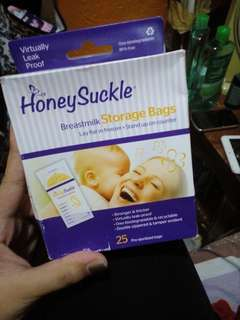 Honey suckle breastmilk storage bags