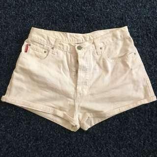 White High Waisted Shorts size 10
