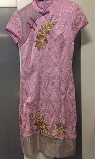 Pink floral Cheongsam