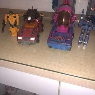 G1 pretenders transformers vehicles vintage