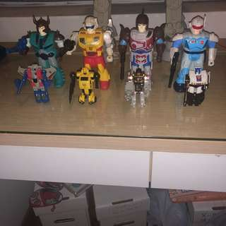 G1 transformers vintage classic pretenders complete